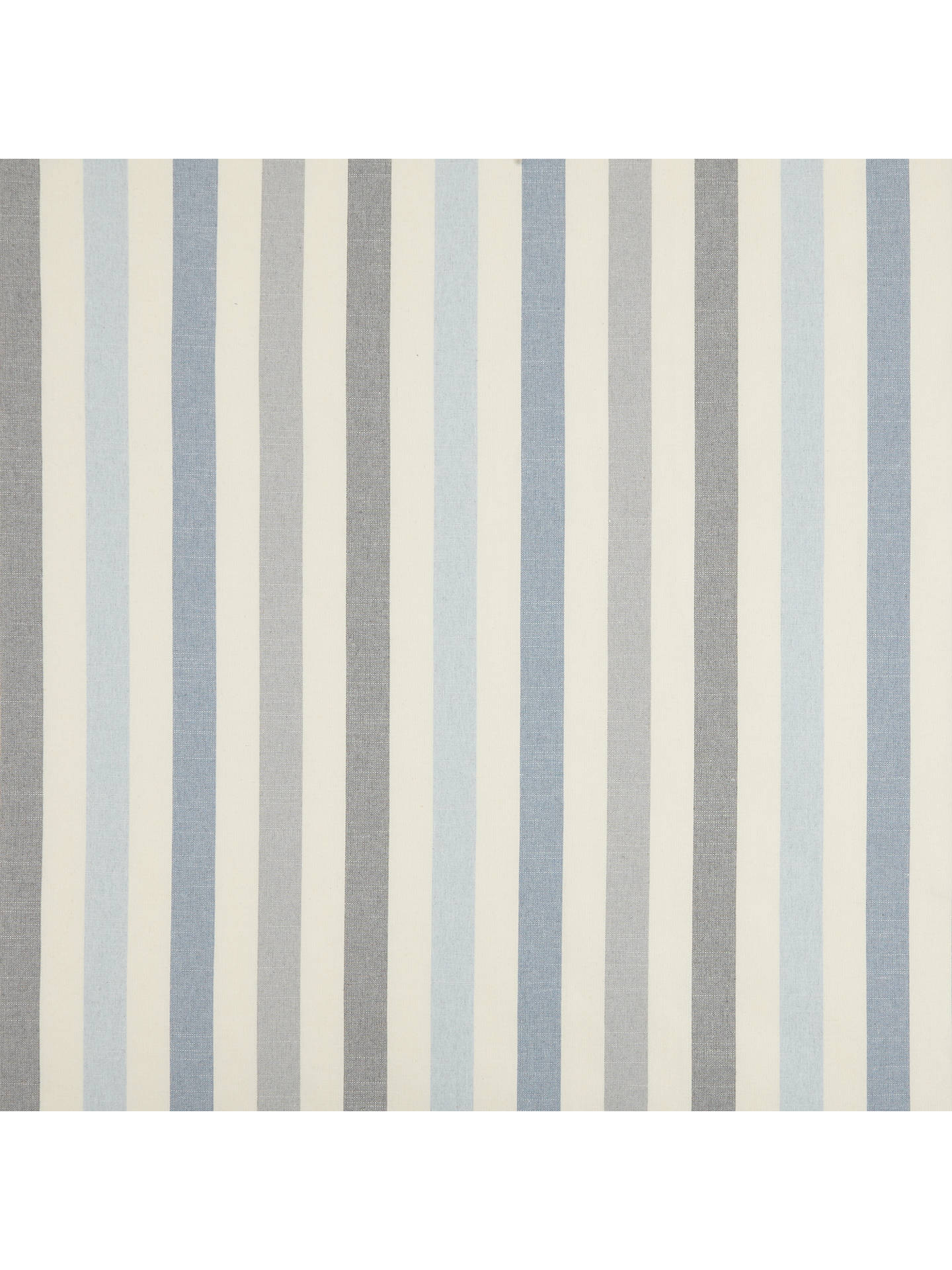 Buy John Lewis & Partners Penzance Stripe Furnishing Fabric, Blue Online at johnlewis.com