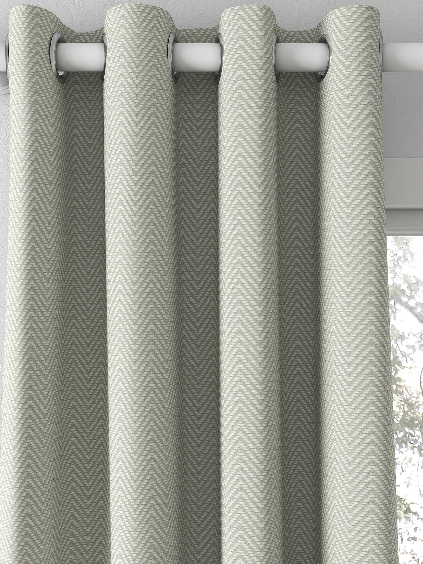 BuyCroft Collection Herringbone Curtain, Slate Online at johnlewis.com