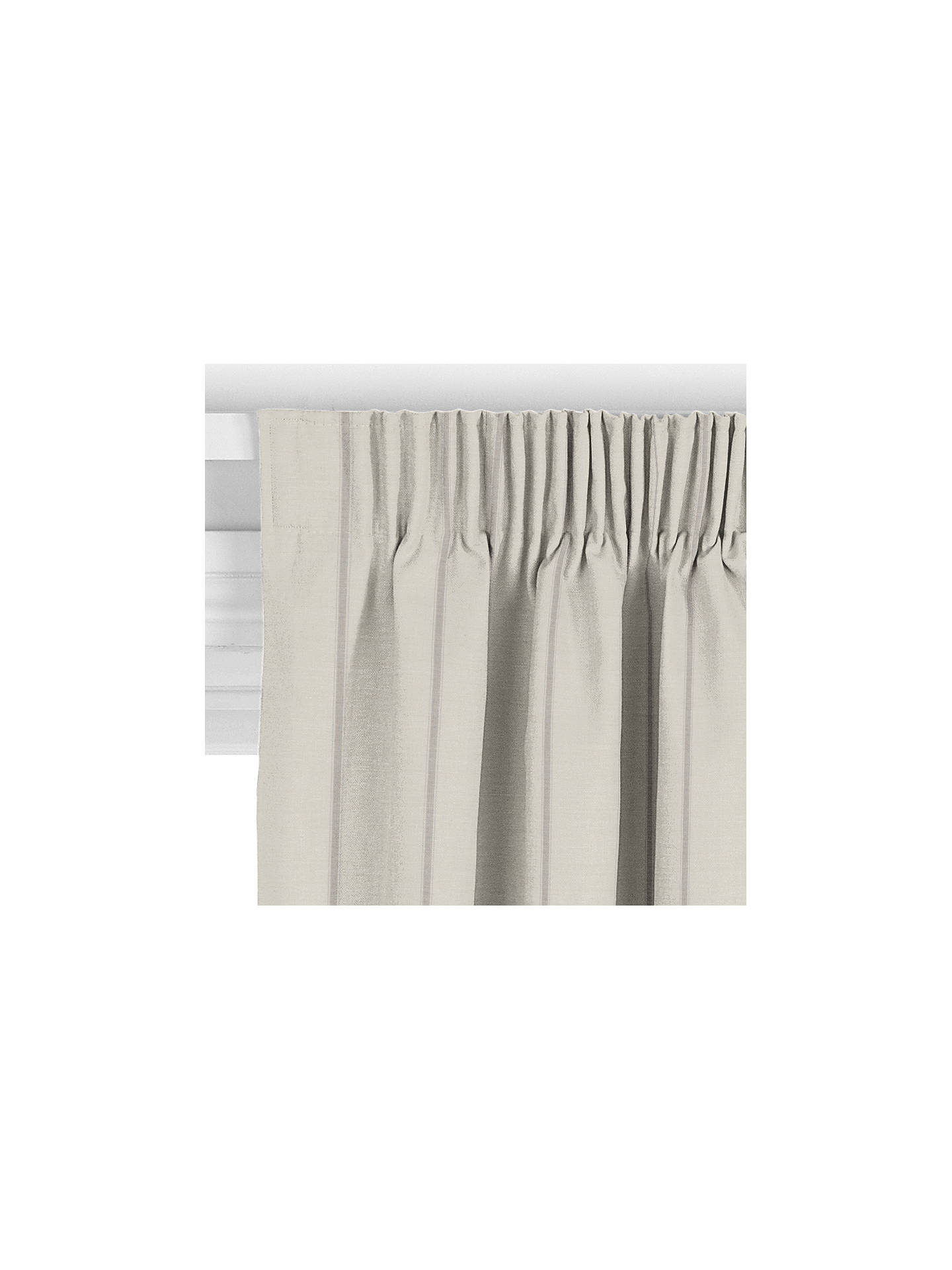 BuyJohn Lewis & Partners Padstow Stripe Curtain, White / Grey Online at johnlewis.com