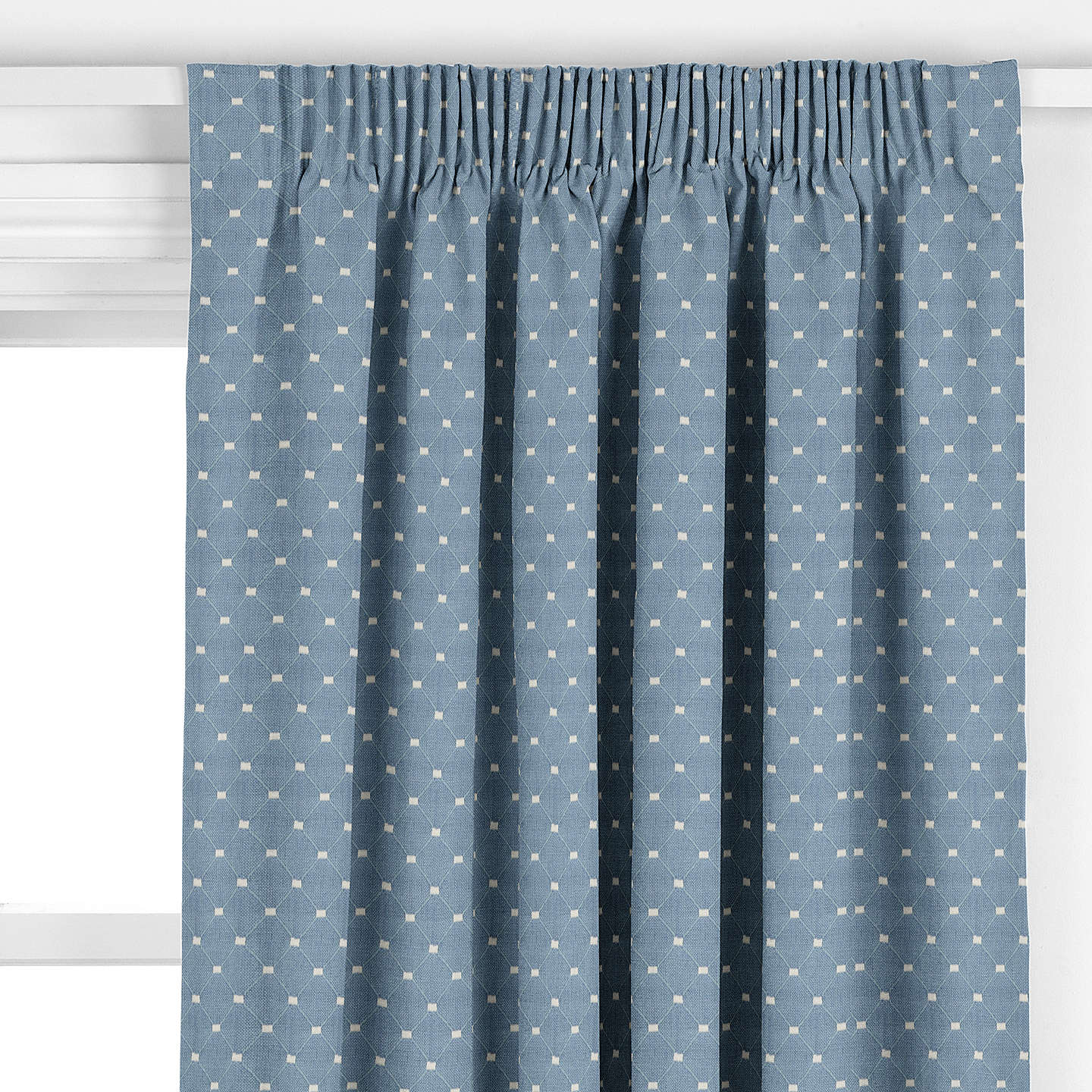 BuyJohn Lewis Provence Curtain, Blue Online at johnlewis.com