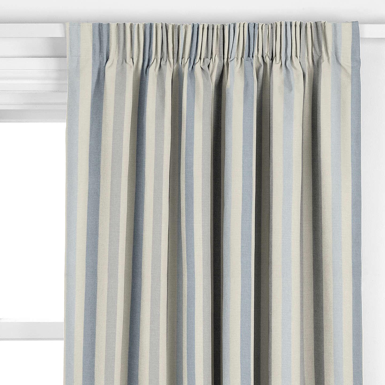 John Lewis Penzance Stripe Curtain Blue At John Lewis