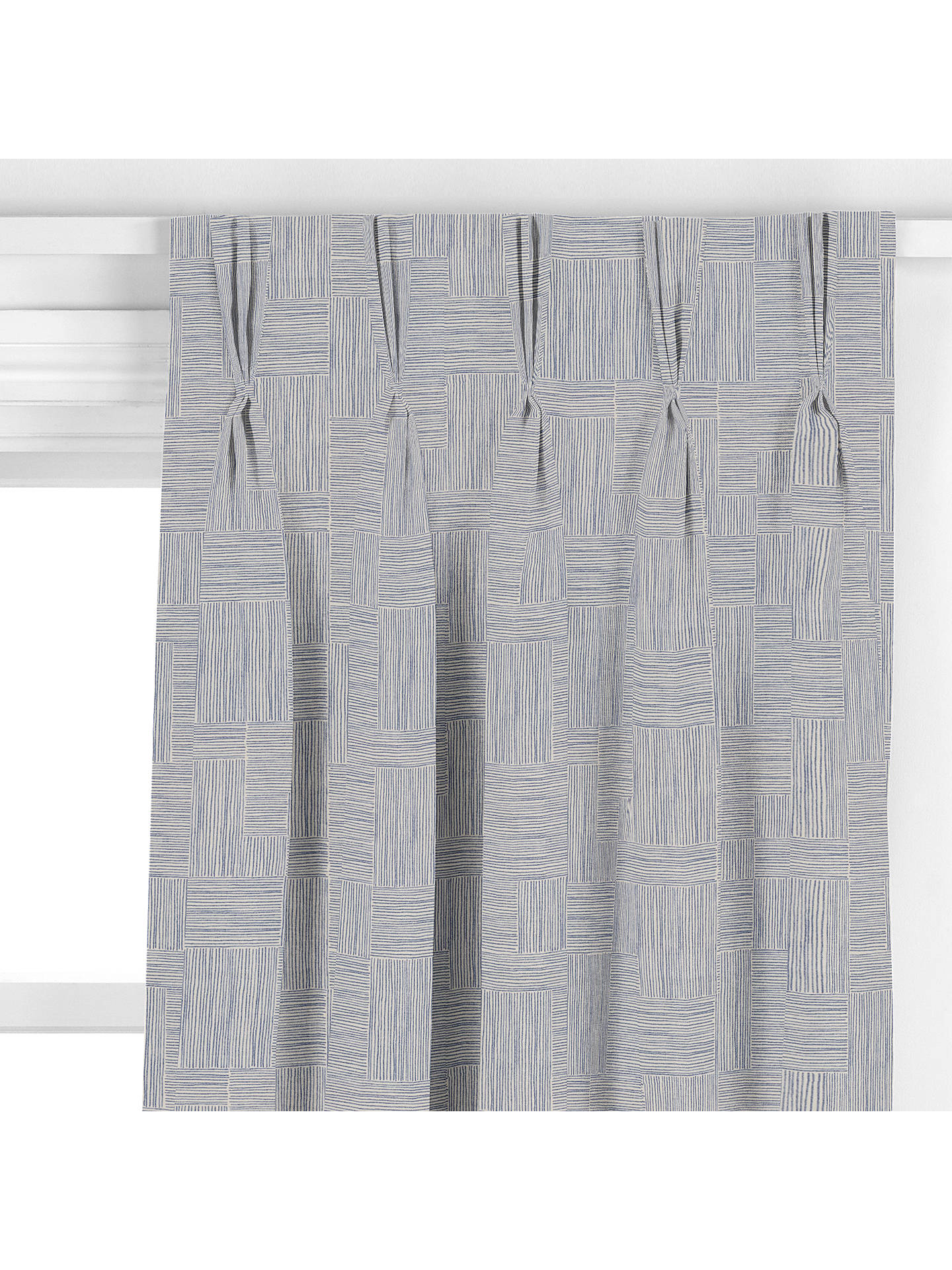 BuyJohn Lewis & Partners Cley Curtain, Blue Online at johnlewis.com