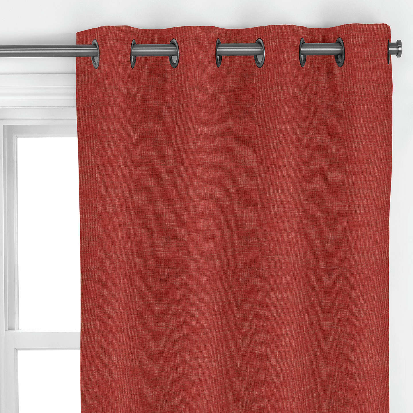 BuyJohn Lewis Blyton Curtain, Red Online at johnlewis.com