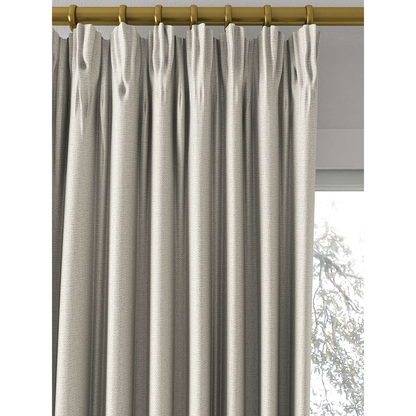 BuyCroft Collection Herringbone Curtain, Mole Online at johnlewis.com