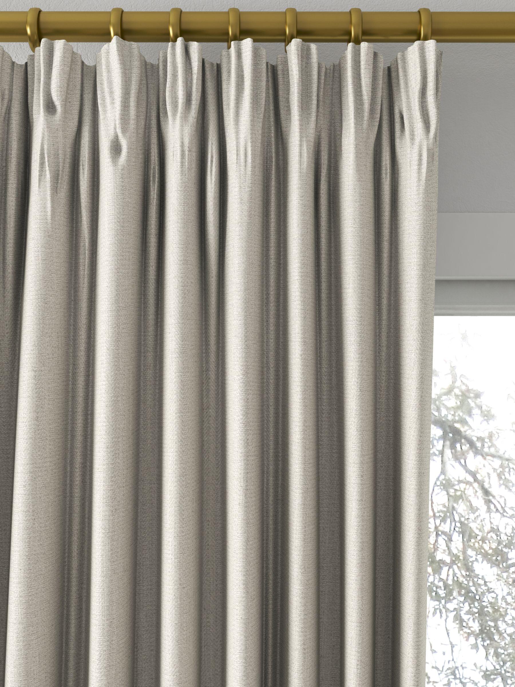 John Lewis Partners Herringbone Made To Measure Curtains Mole