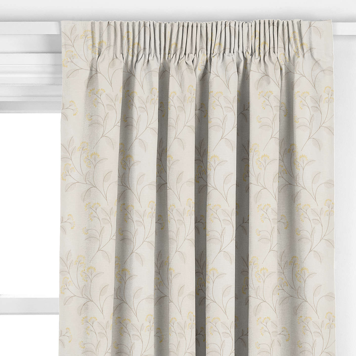BuyJohn Lewis Grace Floral Curtain, Gold Online at johnlewis.com