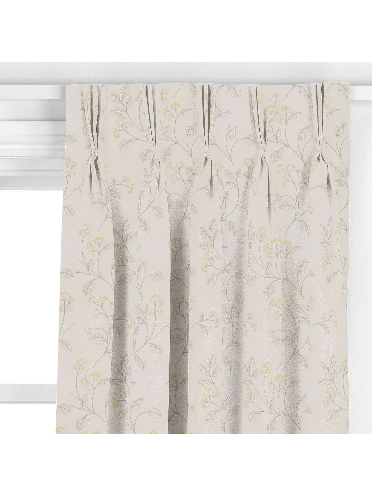 BuyJohn Lewis & Partners Grace Floral Curtain, Gold Online at johnlewis.com