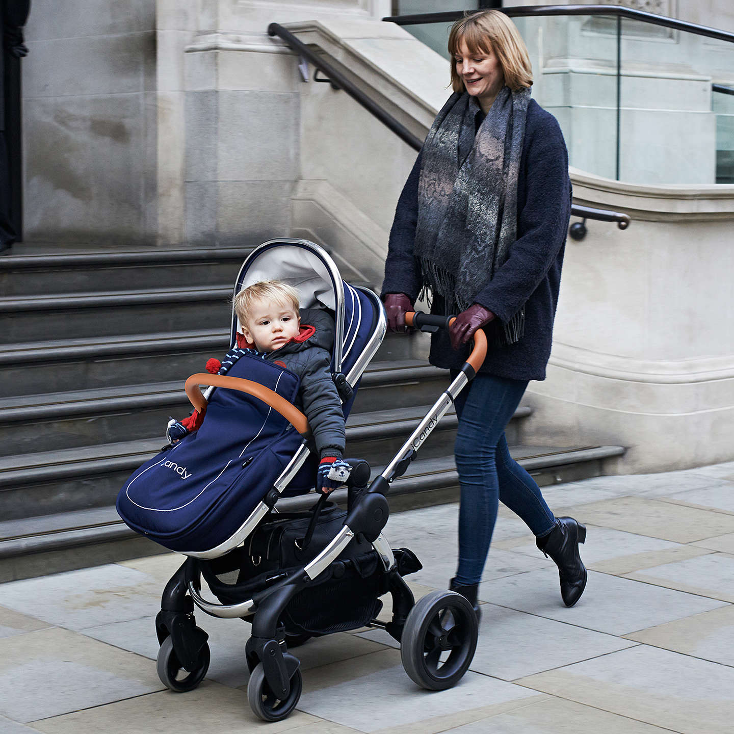 BuyiCandy Peach Pushchair with Chrome Chassis & Royal Hood Online at johnlewis.com