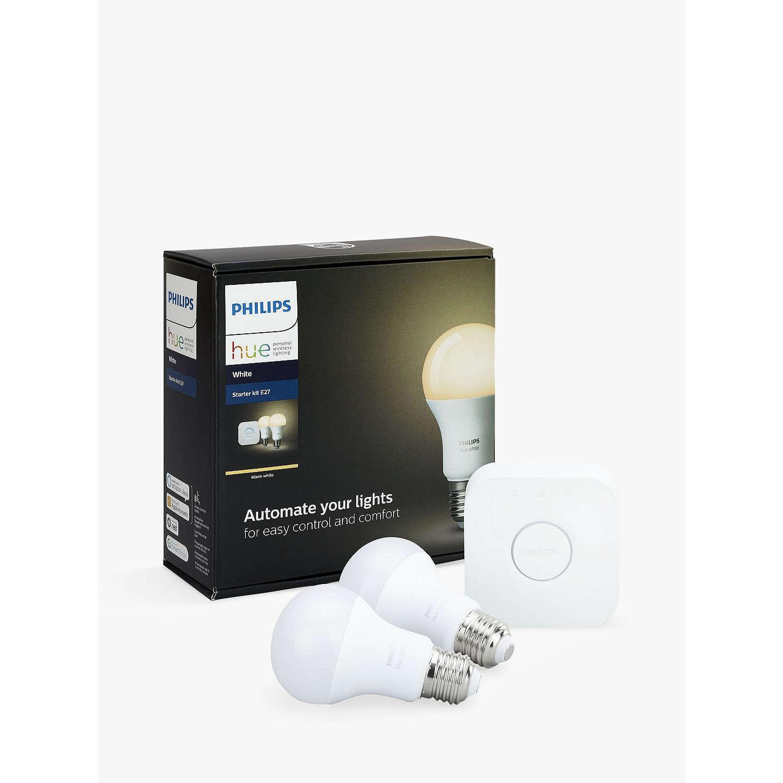 philips hue white personal wireless lighting led starter kit at john lewis. Black Bedroom Furniture Sets. Home Design Ideas