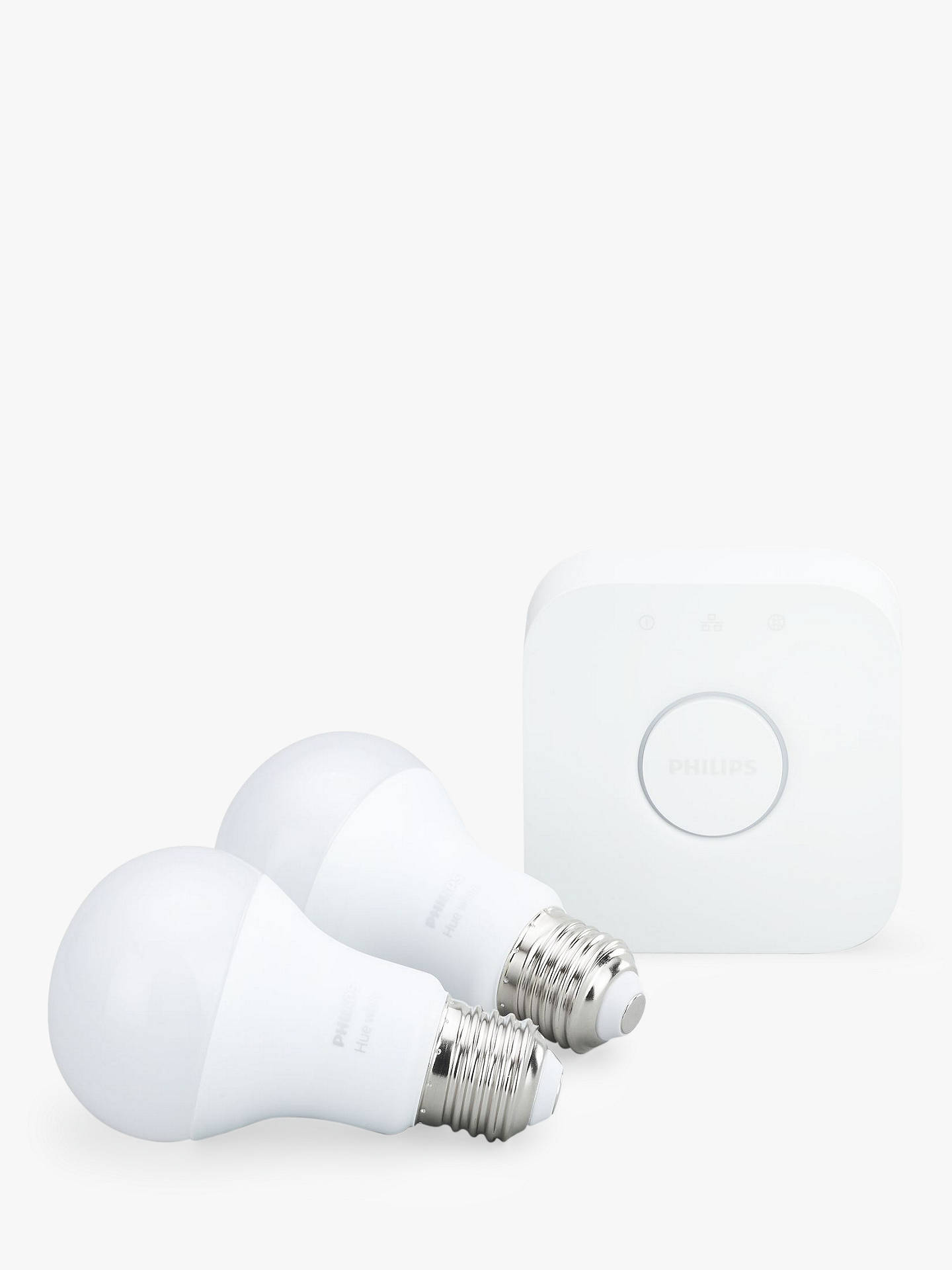 Buy Philips Hue White Personal Wireless Lighting LED Starter Kit, White Online at johnlewis.com