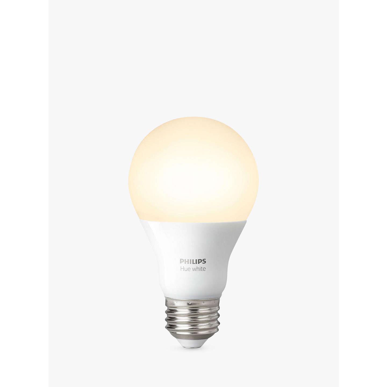 philips hue white 9 5w a60 smart bulb e27 fitting at john lewis. Black Bedroom Furniture Sets. Home Design Ideas