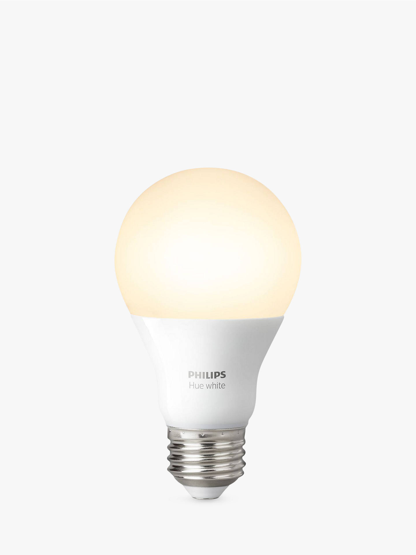 philips hue white 9 5w a60 smart bulb e27 fitting at john. Black Bedroom Furniture Sets. Home Design Ideas