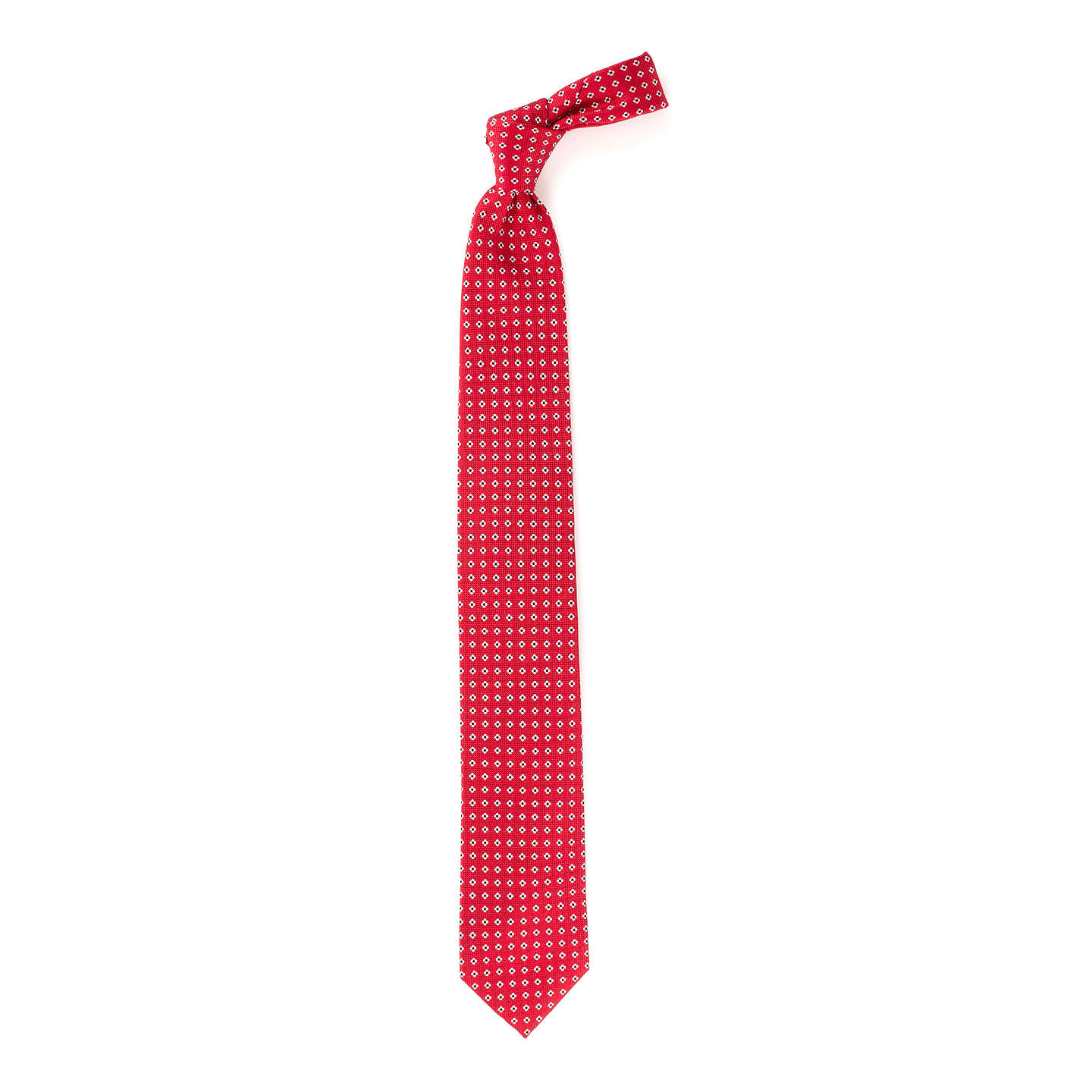 BuyJohn Lewis Base Ditsy Flower Silk Tie, Red Online at johnlewis.com