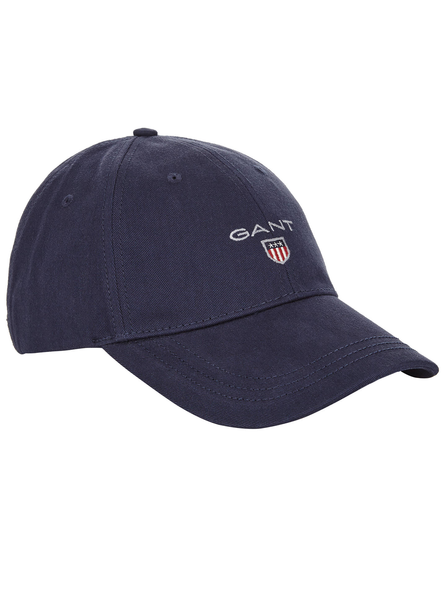 63e636a9 Buy Gant Cotton Twill Baseball Cap, One Size, Navy Online at johnlewis.com  ...