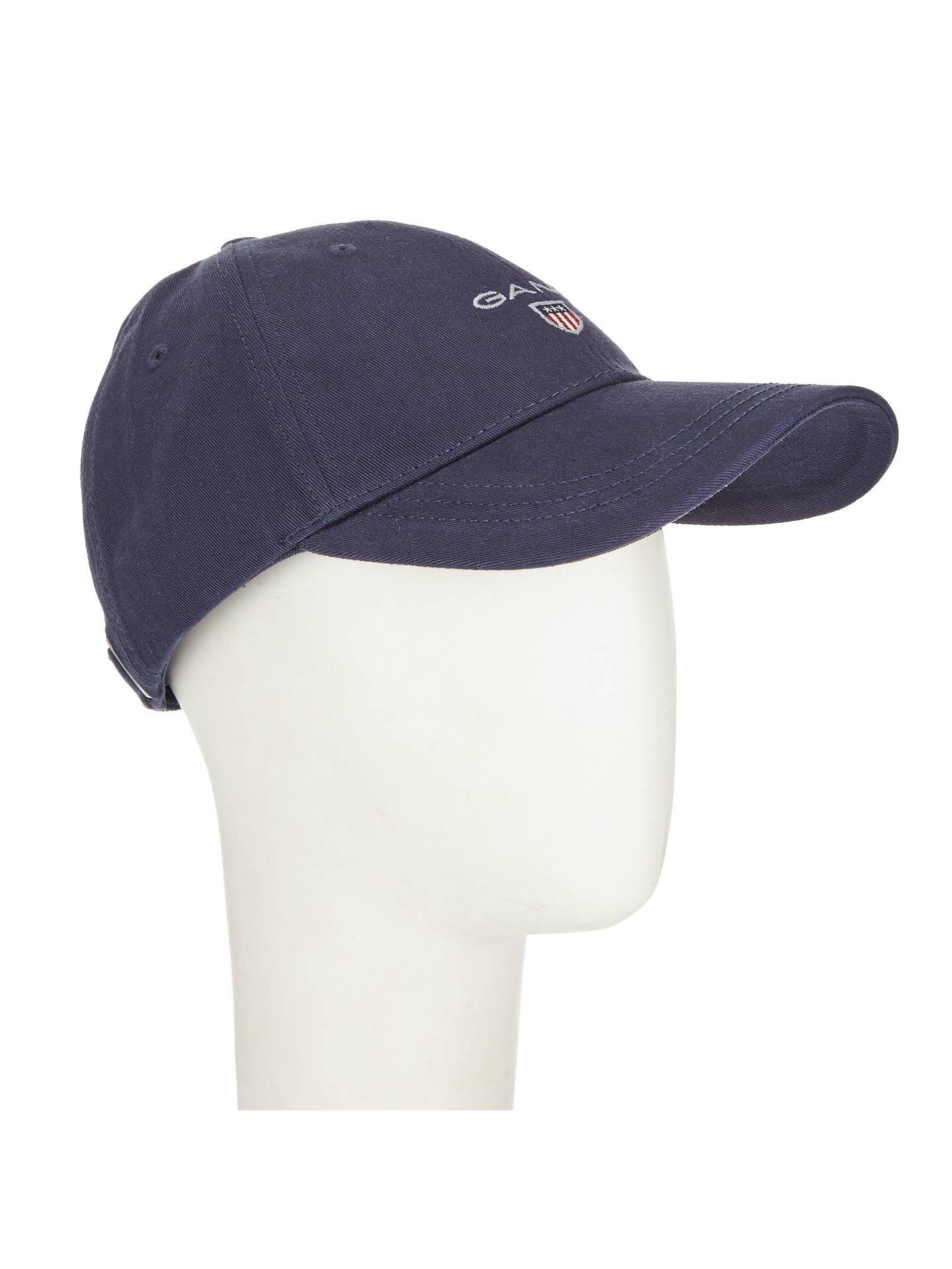 12b2dc17 ... Buy Gant Cotton Twill Baseball Cap, One Size, Navy Online at  johnlewis.com