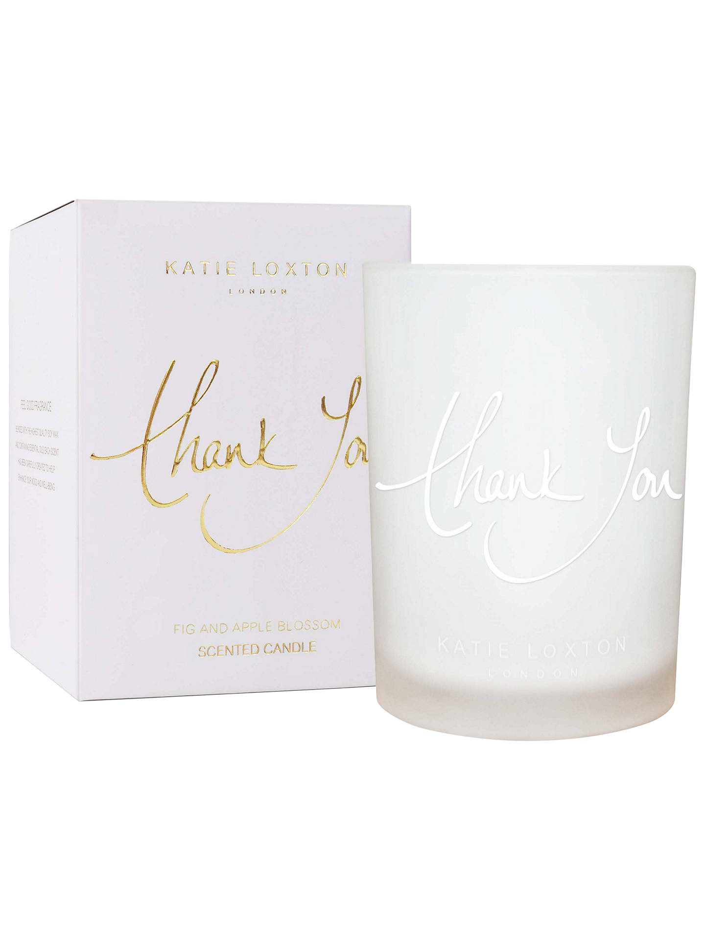 Buy Katie Loxton 'Thank you' Fig and Apple Blossom Scented Candle Online at johnlewis.com