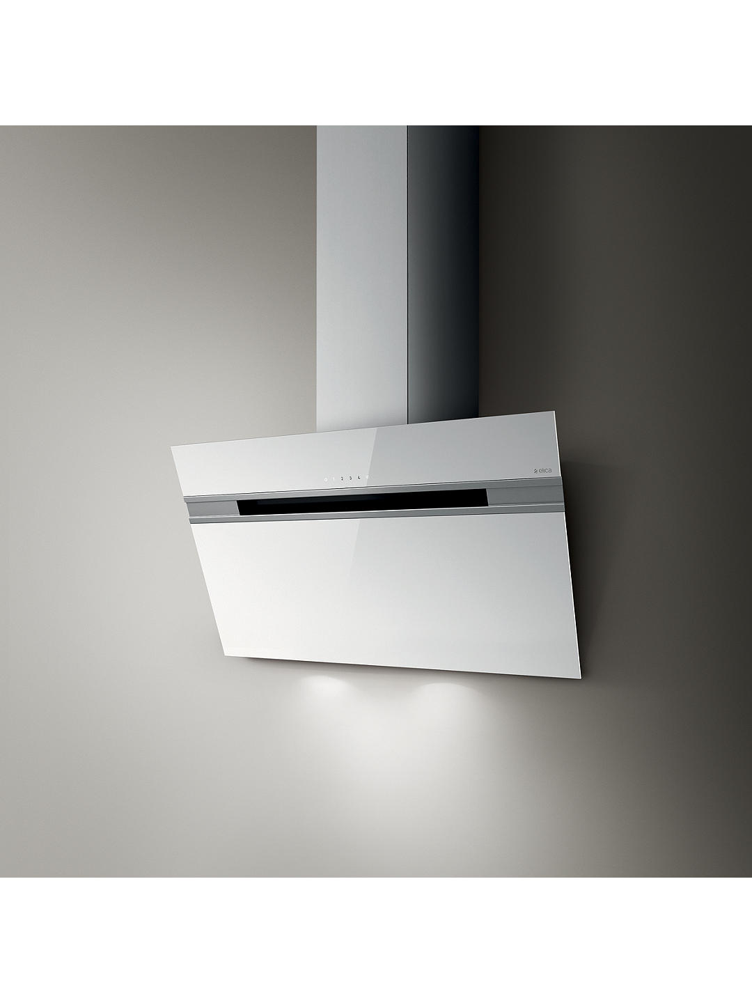 Buy Elica Ascent LED 90cm Wall Mounted Chimney Cooker Hood, White Glass Online at johnlewis.com