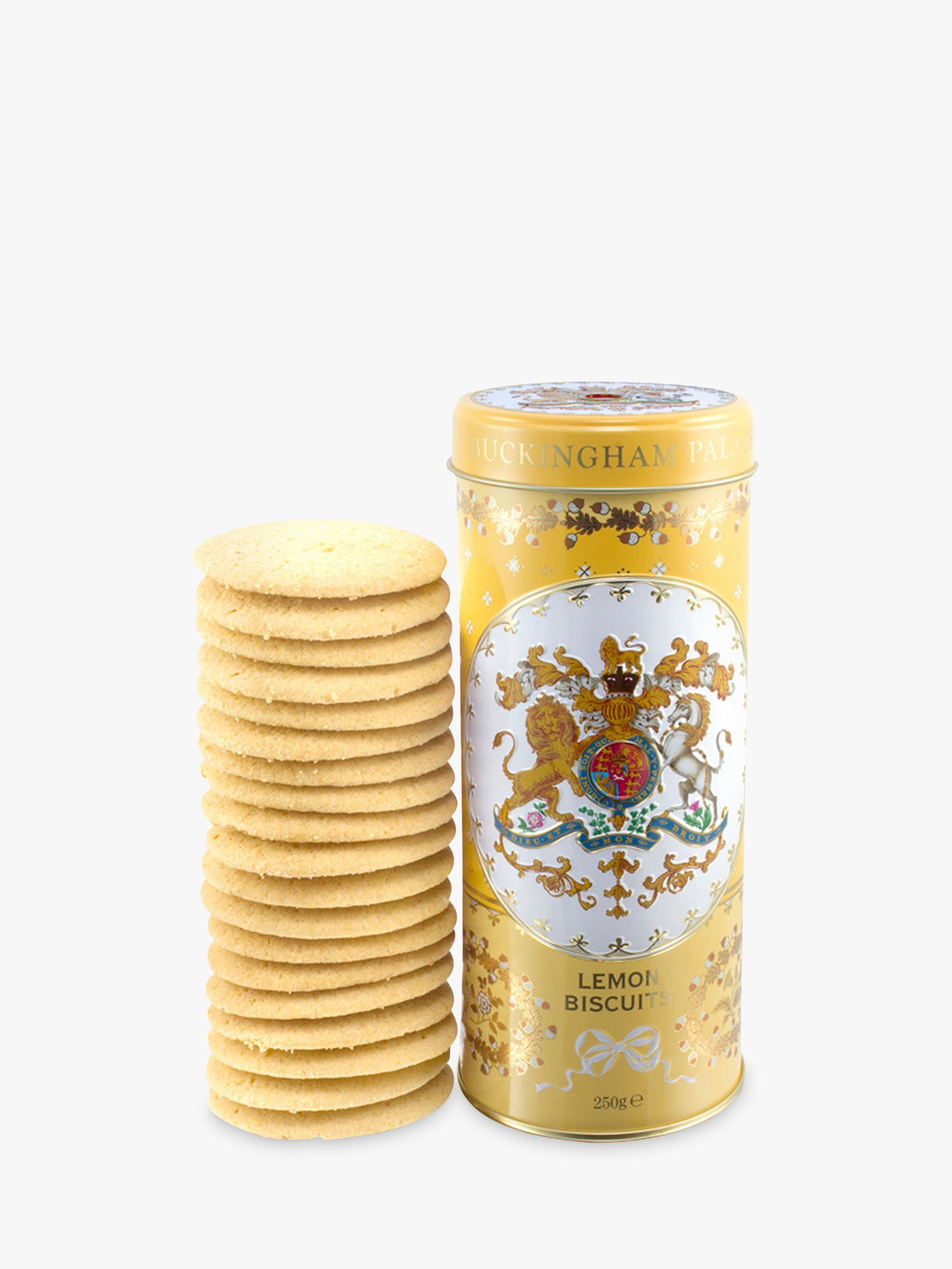 Royal Collection Royal Collection Georgian Shortbread Tin & Biscuits, Yellow