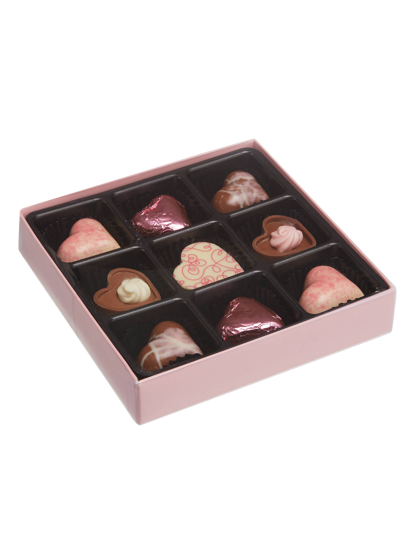 Buy Natalie Nine-Piece Filled Chocolate Hearts Box, Assorted, 110g Online at johnlewis.com