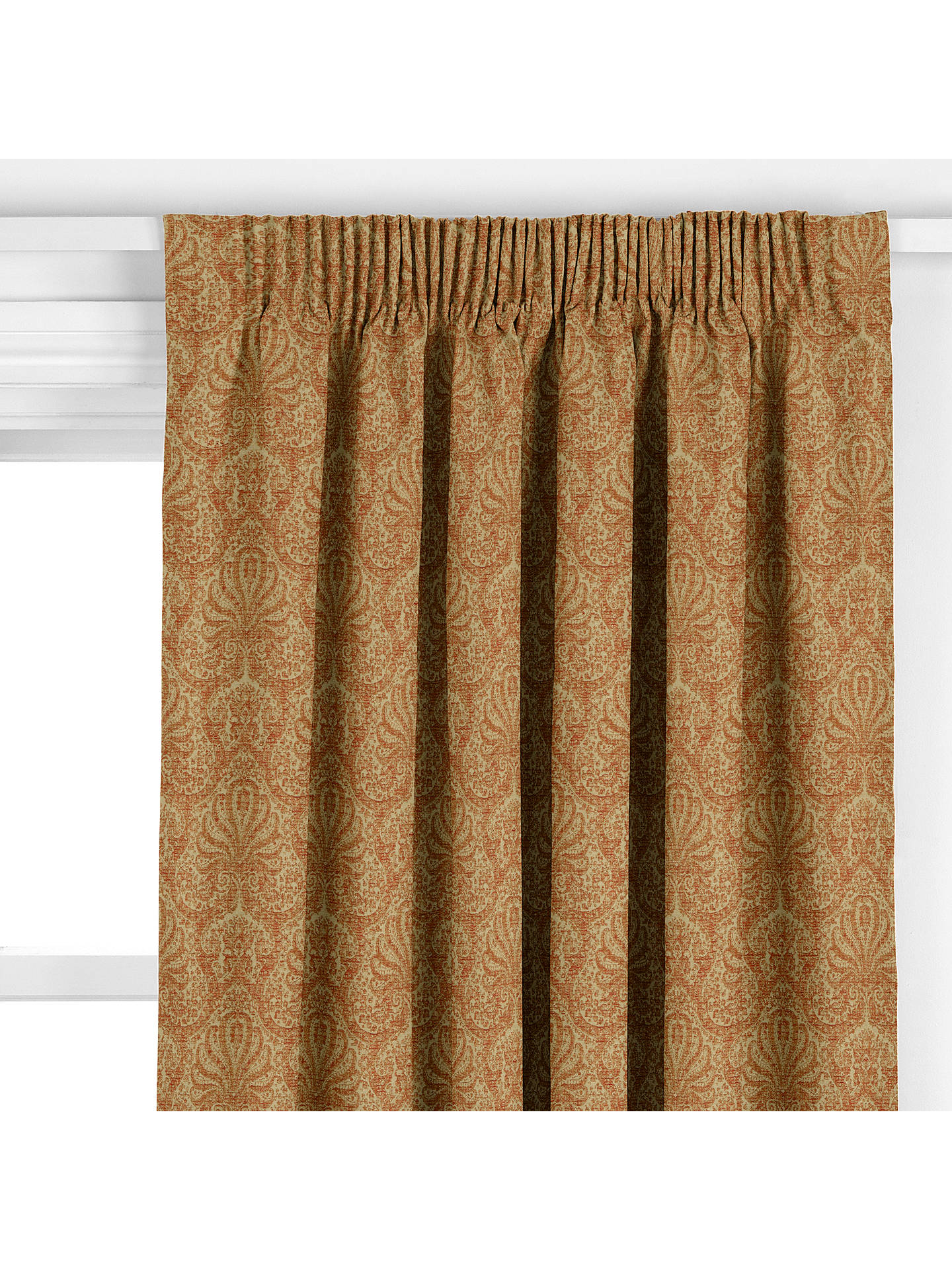 BuyJohn Lewis & Partners Tripoli Damask Curtain, Red Online at johnlewis.com