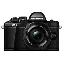 "Buy Olympus OM-D E-M10 Mark II Compact System Camera with M.ZUIKO 14-42mm EZ Lens, HD 1080p, 16.1MP, Wi-Fi, 5-Axis IS, OLED EVF, 3"" LCD Tilting Touch Monitor Online at johnlewis.com"