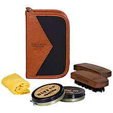 Buy Gentlemen's Hardware Shoe Shine Kit, Grey Online at johnlewis.com