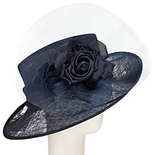 Buy John Lewis Tami Crin Occasion Hat, Navy Online at johnlewis.com