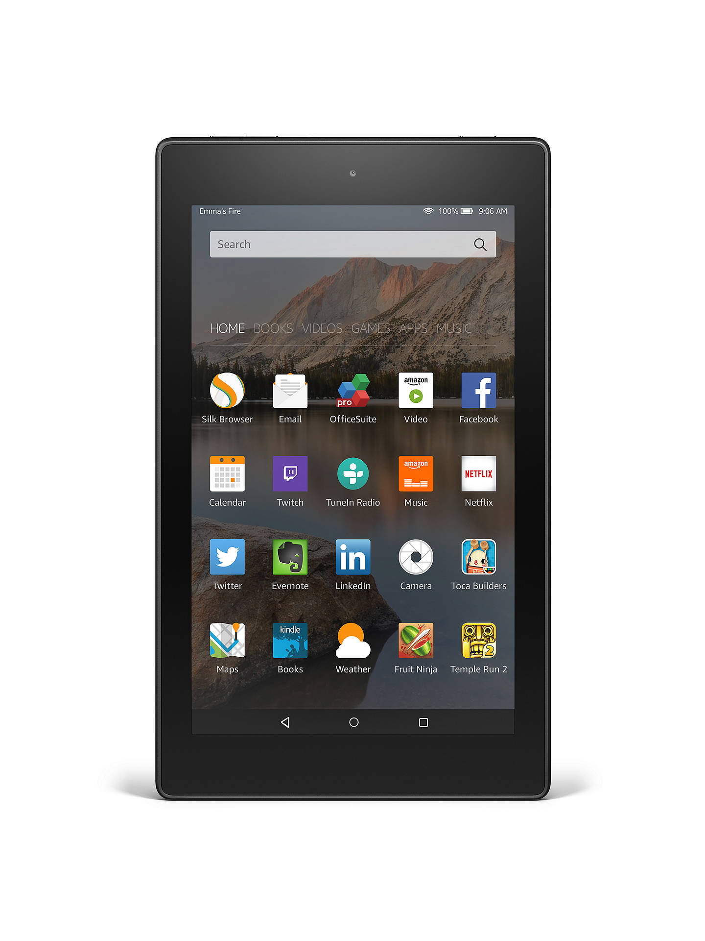 Amazon Fire HD 8 Tablet, Quad-core, Fire OS, 8