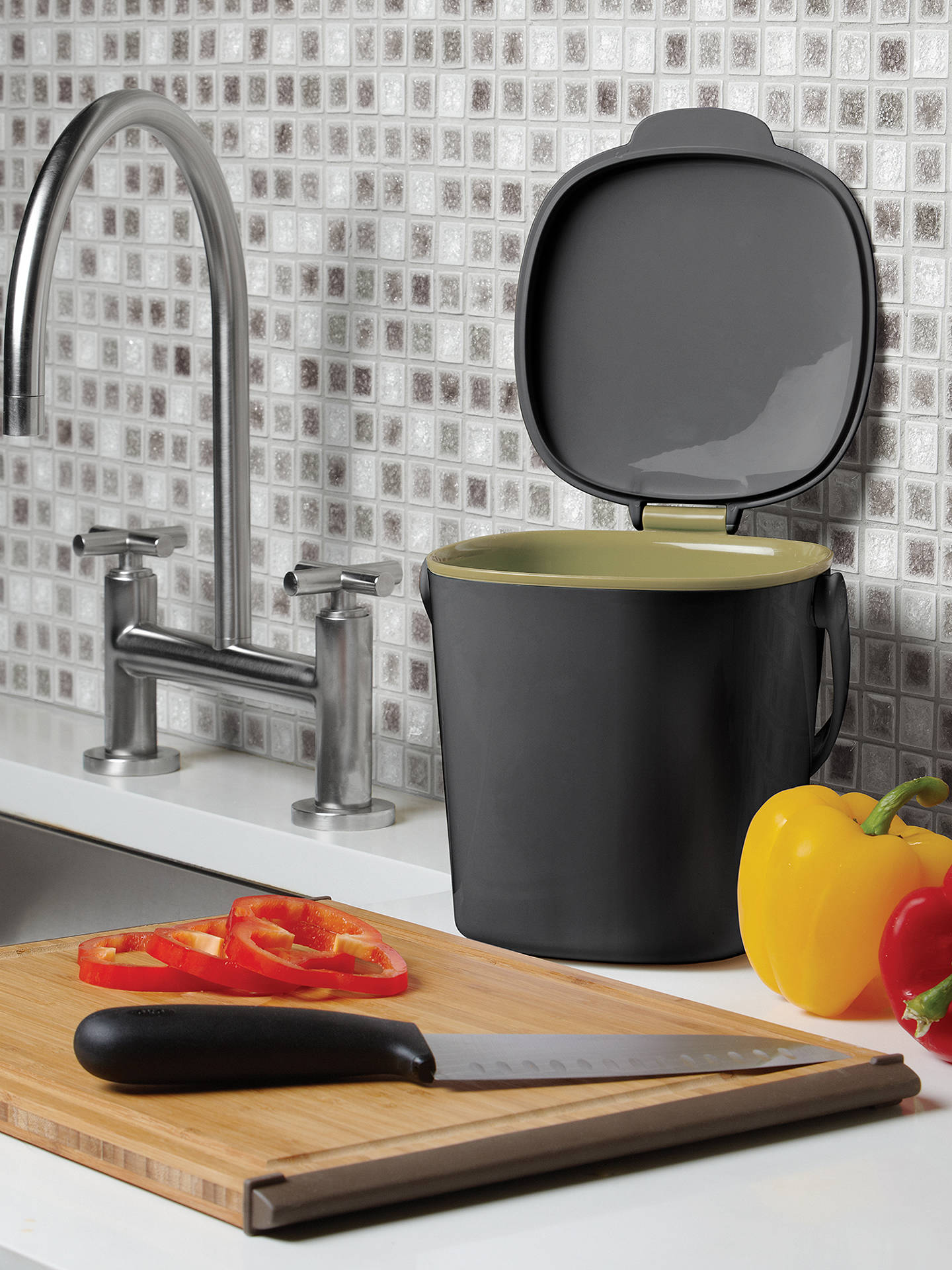Buy OXO Compost Food Waste Caddy, Grey Online at johnlewis.com