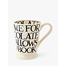 Buy Emma Bridgewater Black Toast Cocoa Mug, Black/White, 600ml Online at johnlewis.com