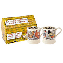 Buy Emma Bridgewater Hen & Toast Half Pint Mugs, Set of 2, Multi, 300ml Online at johnlewis.com