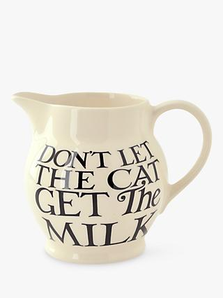 Emma Bridgewater Black Toast All Over Half Pint Jug, Black/White, 360ml