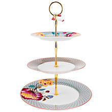 Buy PiP Studio Bloomingtales 3 Tier Cake Stand, Blue Online at johnlewis.com