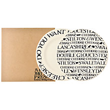 Buy Emma Bridgewater Black Toast Cheese Plate, Set of 2, Black/White, Dia.16.5cm Online at johnlewis.com