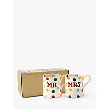 Buy Emma Bridgewater Polka Dot Mr & Mrs Mugs, Set of 2, Multi, 310ml Online at johnlewis.com