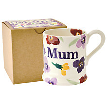 Buy Emma Bridgewater Mum Wallflower Half Pint Mug, Multi, 310ml Online at johnlewis.com