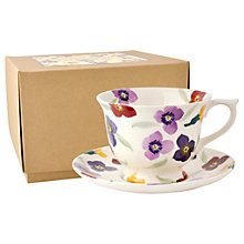 Buy Emma Bridgewater Wallflower Large Cup and Saucer Set, Multi, 280ml Online at johnlewis.com