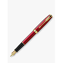Buy Parker Sonnet Matt Lacquer Fountain Pen, Red/Black Online at johnlewis.com