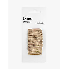 Buy John Lewis Brown Parcel Twine, 20m Online at johnlewis.com