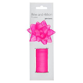 Christmas gift wrap bags ribbons john lewis john lewis gift bow and curling ribbon set negle Choice Image