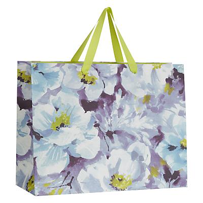 John Lewis Water Colour Flower Horizontal Shopper