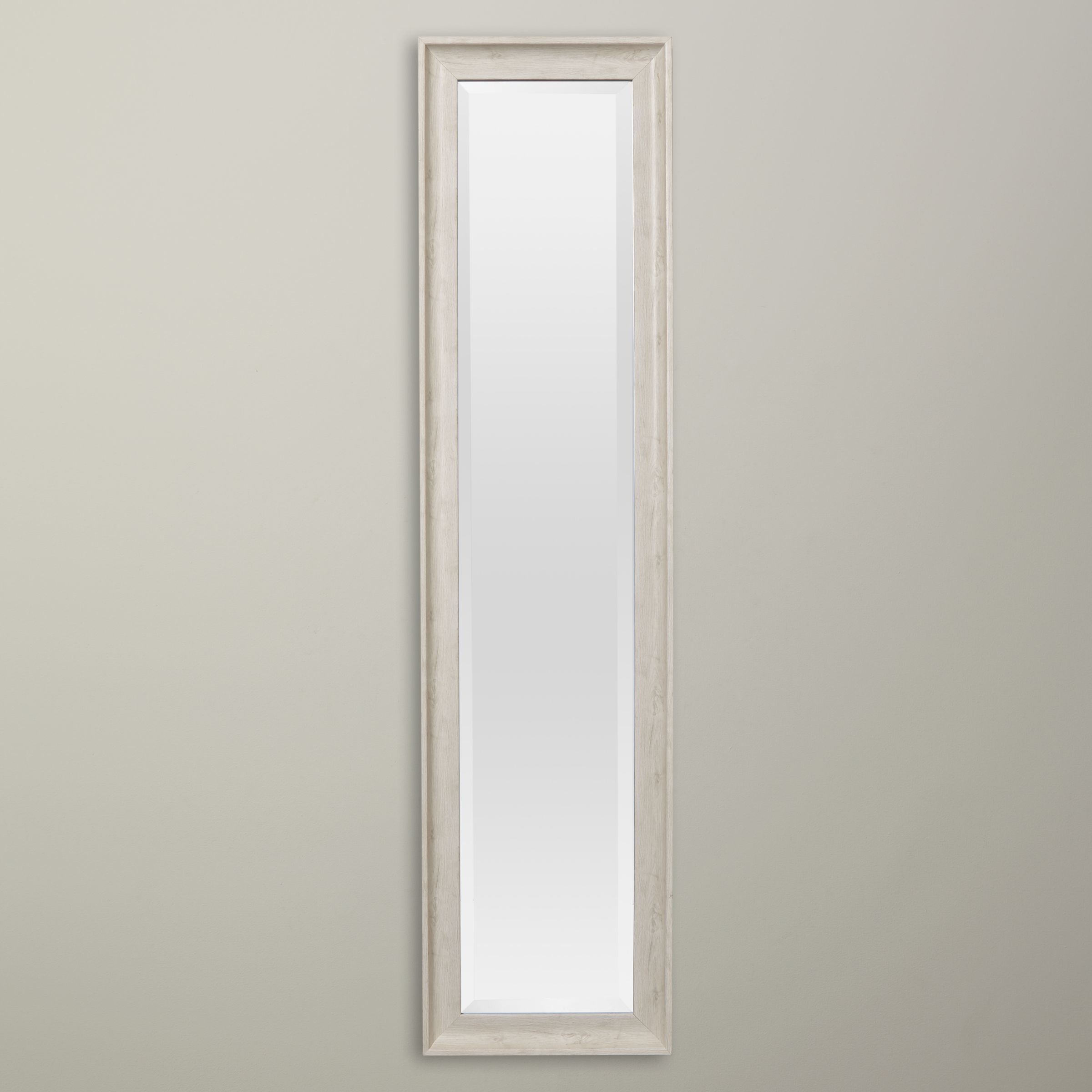 70ee0494177d John Lewis & Partners Coastal Texture Full Length Mirror, 120 x 40cm, White  at John Lewis & Partners