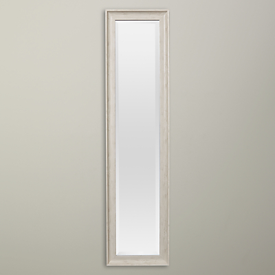 John Lewis Coastal White Texture Full Length Mirror, 120 x 40cm