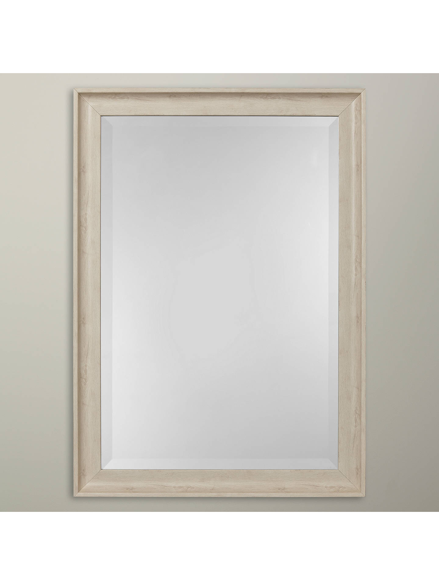 7144a1e6f053 Buy John Lewis Coastal White Texture Wall Mirror, 50 x 70cm Online at  johnlewis.