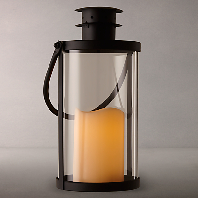 John Lewis Canton Outdoor LED Lantern, Black