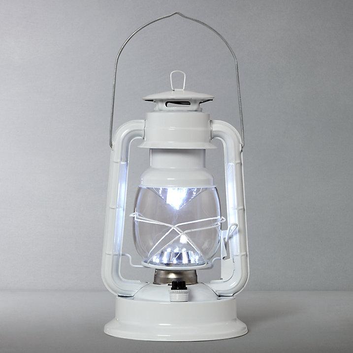 Buy John Lewis Vermont LED Gloss Lantern, White Online at johnlewis.com