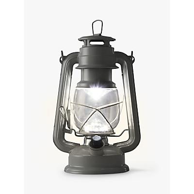 John Lewis Vermont LED Gloss Lantern, Grey