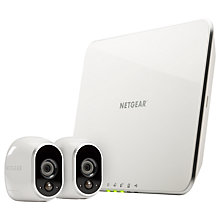 Buy Netgear Arlo Smart Security System With 2 HD Cameras, White Online at johnlewis.com
