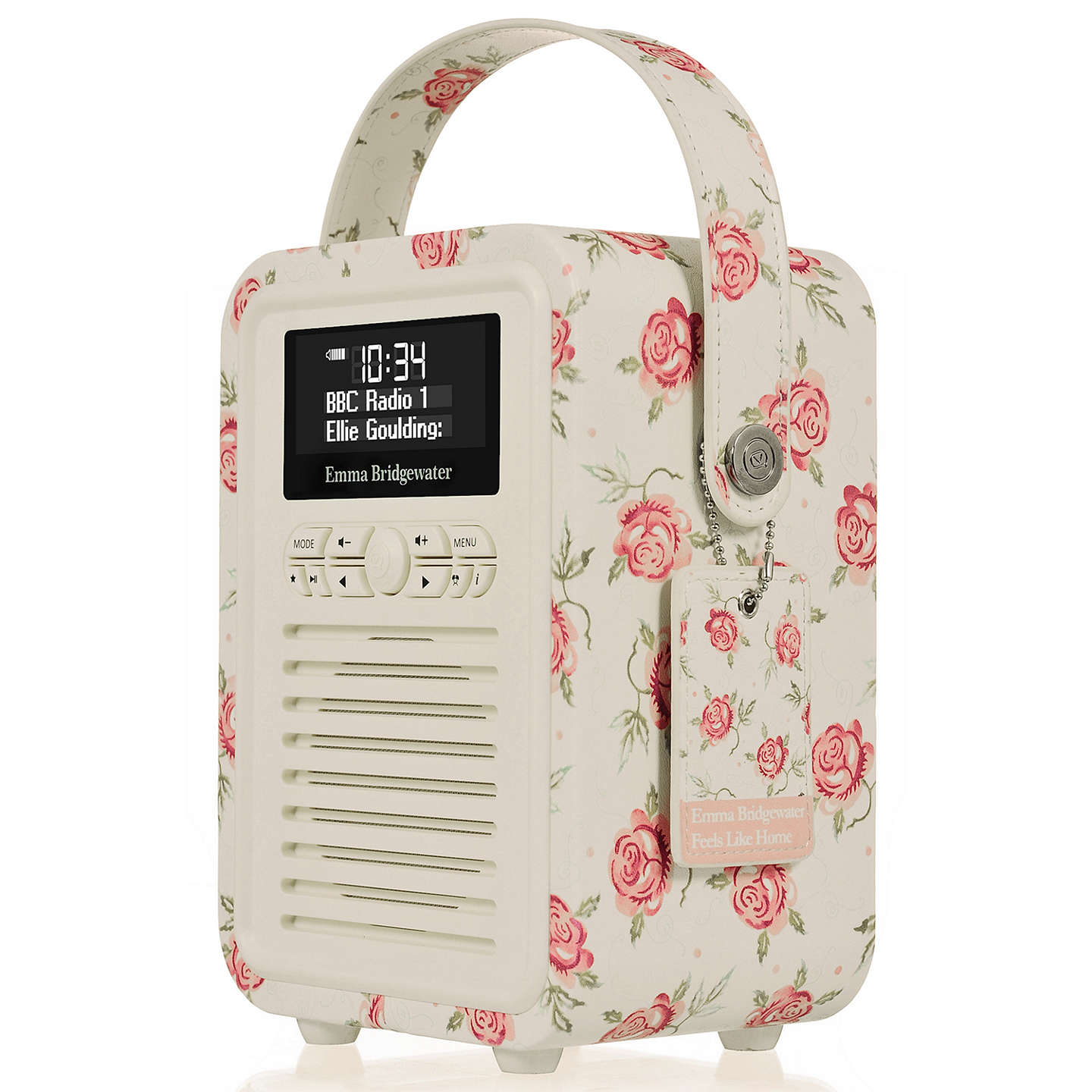 BuyVQ Retro Mini DAB/FM Bluetooth Digital Radio, Emma Bridgewater Patterns, Rose & Bee Online at johnlewis.com