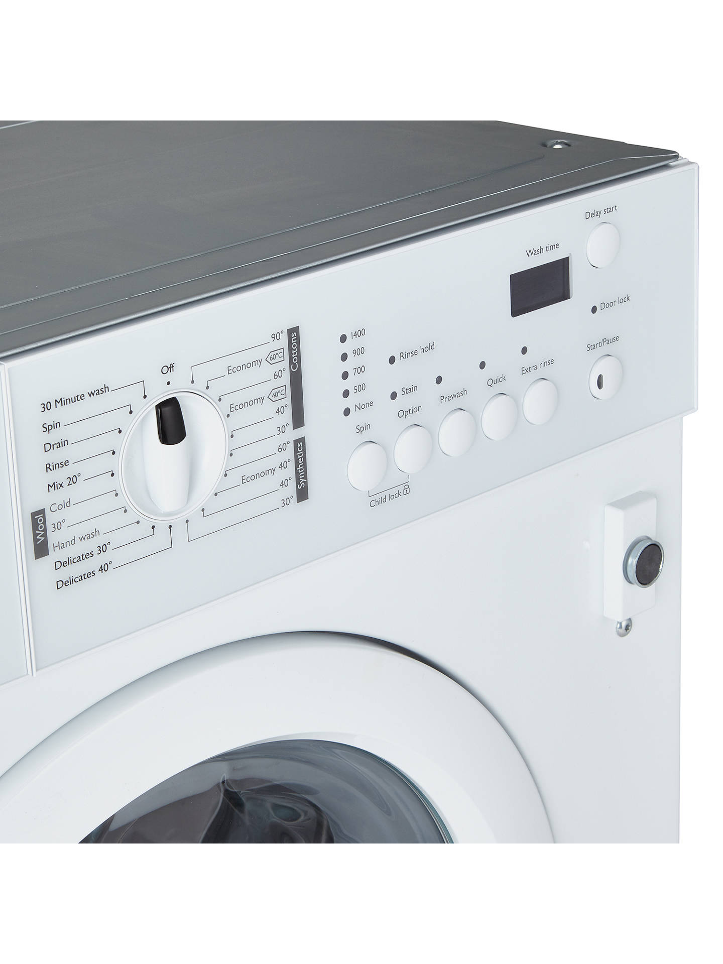 BuyJohn Lewis & Partners JLBIWM1403 Integrated Washing Machine, 7kg Load, A++ Energy Rating, 1400rpm Spin, White Online at johnlewis.com